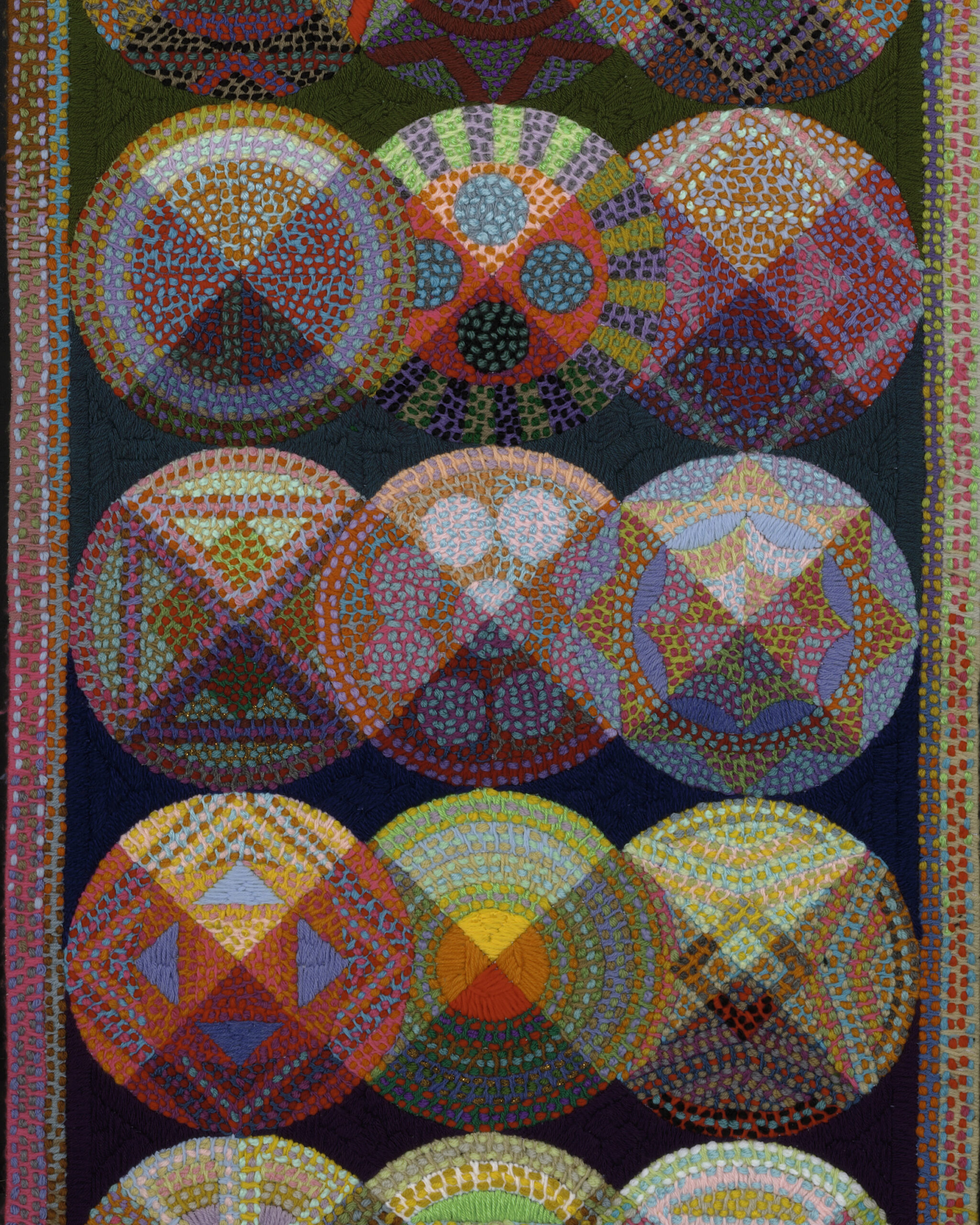 Liz Whitney Quisgard. Wall Hanging: 42 Circles, 2005. The Baltimore Museum of Art: Gift of the Artist, BMA 2014.20.