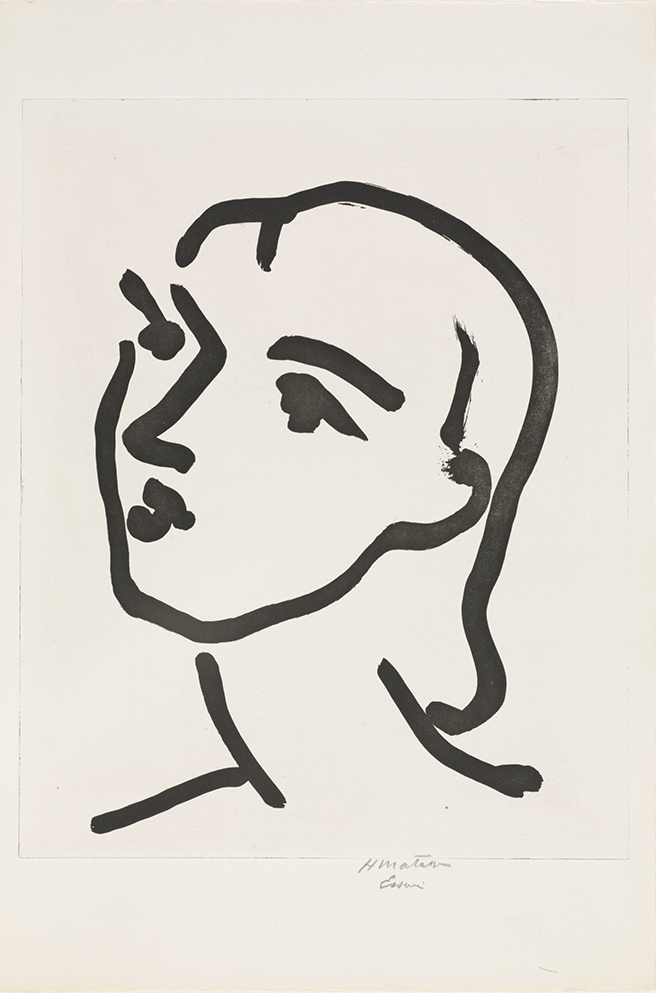 Henri Matisse. Nadia with Smooth Hair. 1948. The Baltimore Museum of Art: Purchased as the gift of Laura and Barrett Freedlander, Baltimore. BMA 2000.5 © Succession H. Matisse/Artists Rights Society (ARS), New York