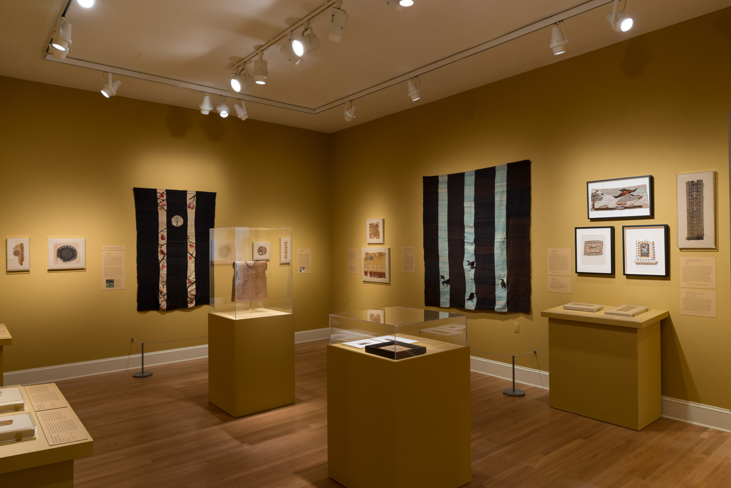 Installation view of Timeless Weft: Ancient Tapestries and The Art of Louise B. Wheatley. Photo by Mitro Hood.