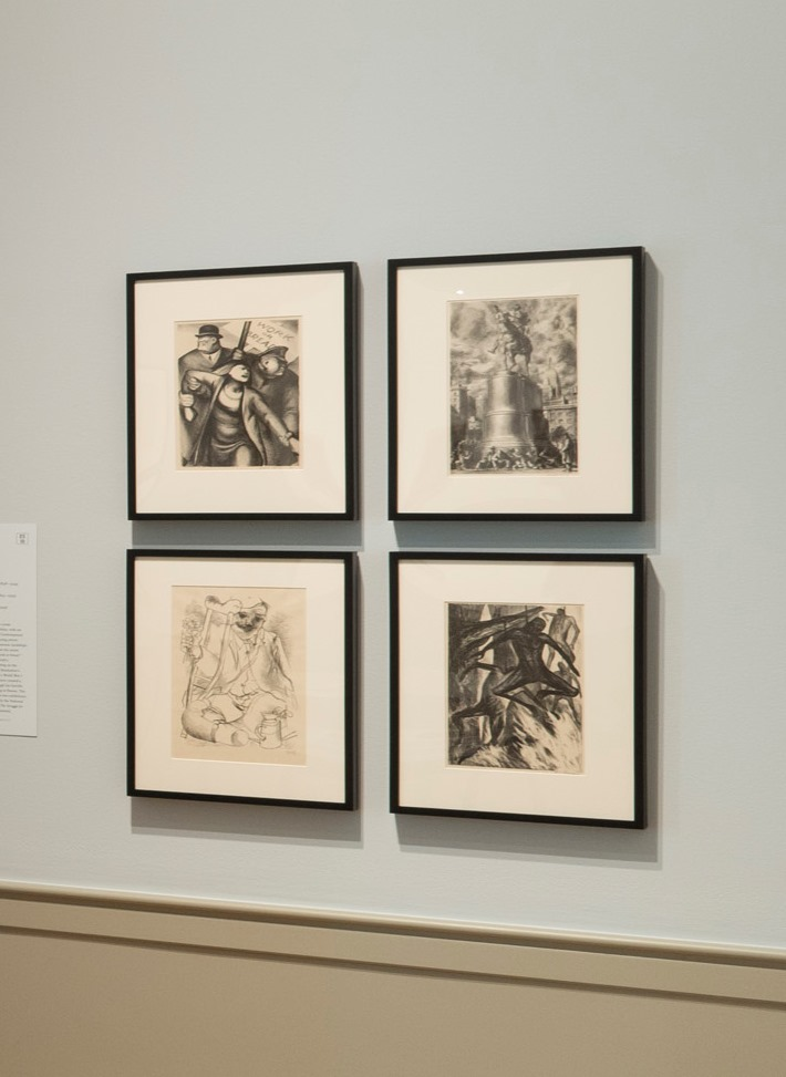 Installation view of Crossing Borders: Mexican Modernist Prints. Photo by Mitro Hood.