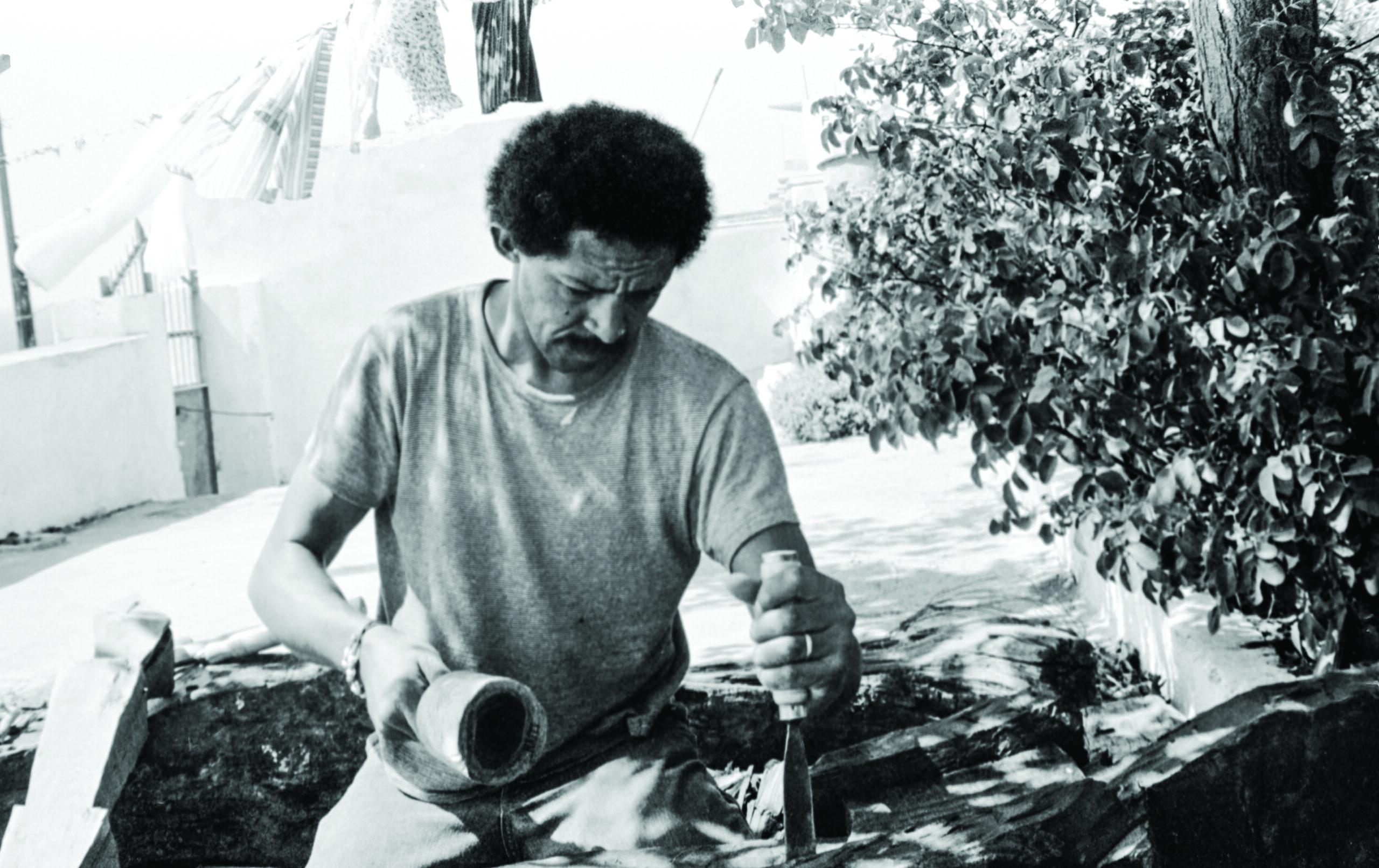 Jack Whitten in Agia Galini, 1973.