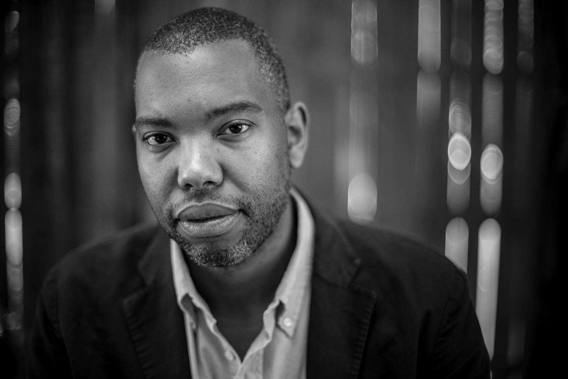 Author Ta-Nehisi Coates in Baltimore City, Md on July 16, 2015. © Gabriella Demczuk / The New York Times