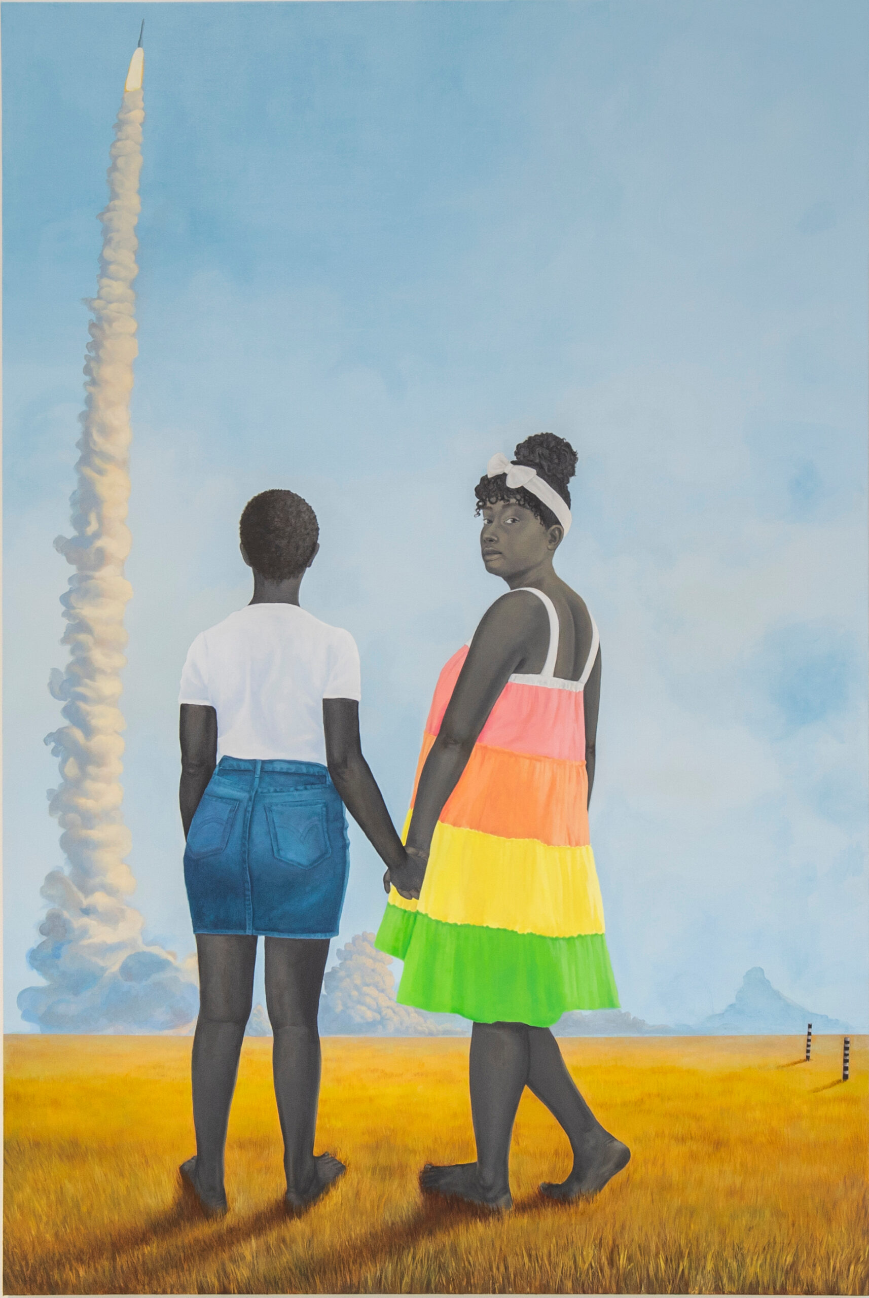 Amy Sherald. Planes, rockets, and the spaces in between. 2018. The Baltimore Museum of Art: Purchase by exchange with funds provided by the Pearlstone Family Fund and through a partial gift of The Andy Warhol Foundation for the Visual Arts, Inc. BMA 2018.80