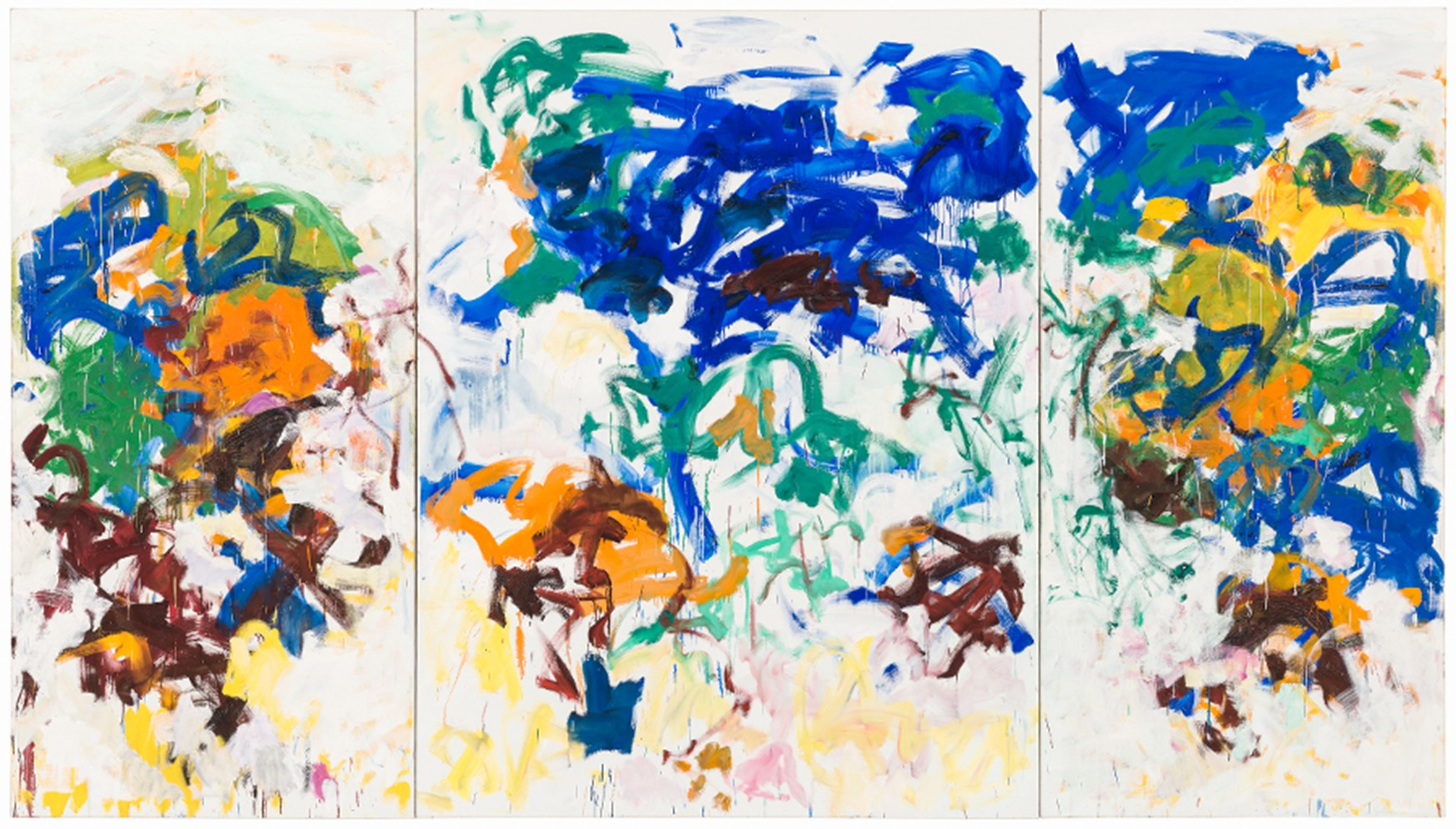 Joan Mitchell. Bracket. 1989.  The Doris and Donald Fisher Collection at the San Francisco Museum of Modern Art.   © Estate of Joan Mitchell.  Photo:  Katherine Du Tiel.