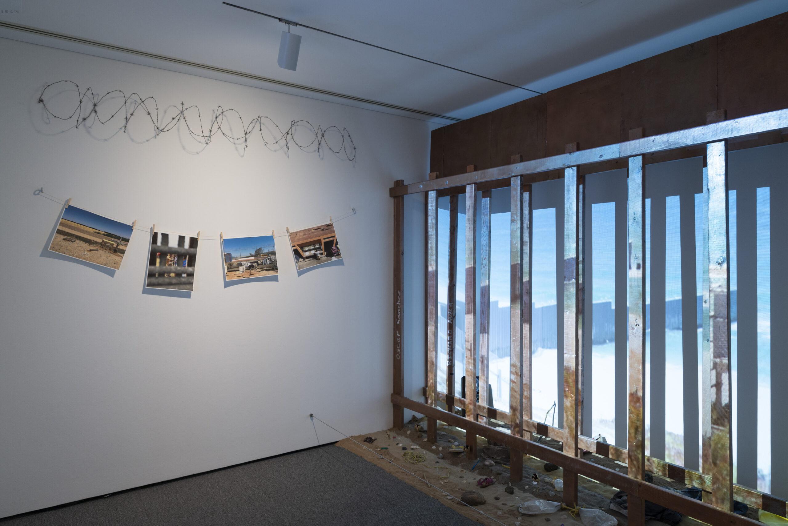 Installation detail of Erick Antonio Benitez's Esta Tierra Es Tu Tierra (This Land Is Your Land). Photo by Mitro Hood.