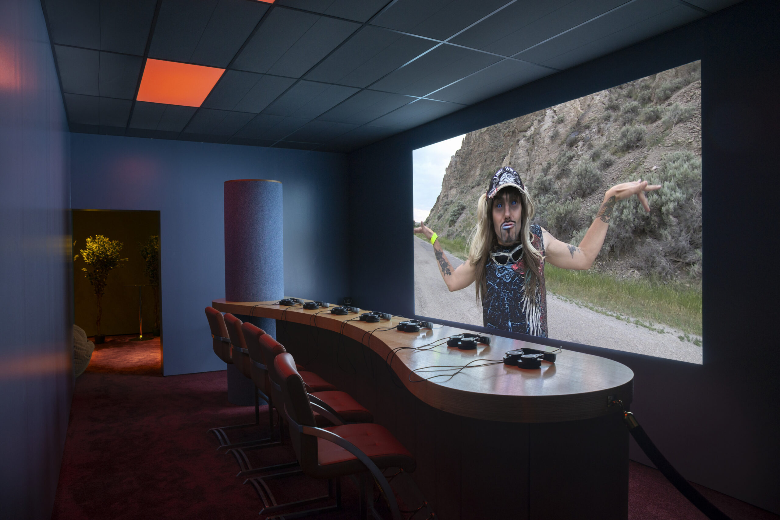 Lizzie Fitch and Ryan Trecartin. Installation view of Wouldy's Grill at the Baltimore Museum of Art, 2018. Photo by Mitro Hood.
