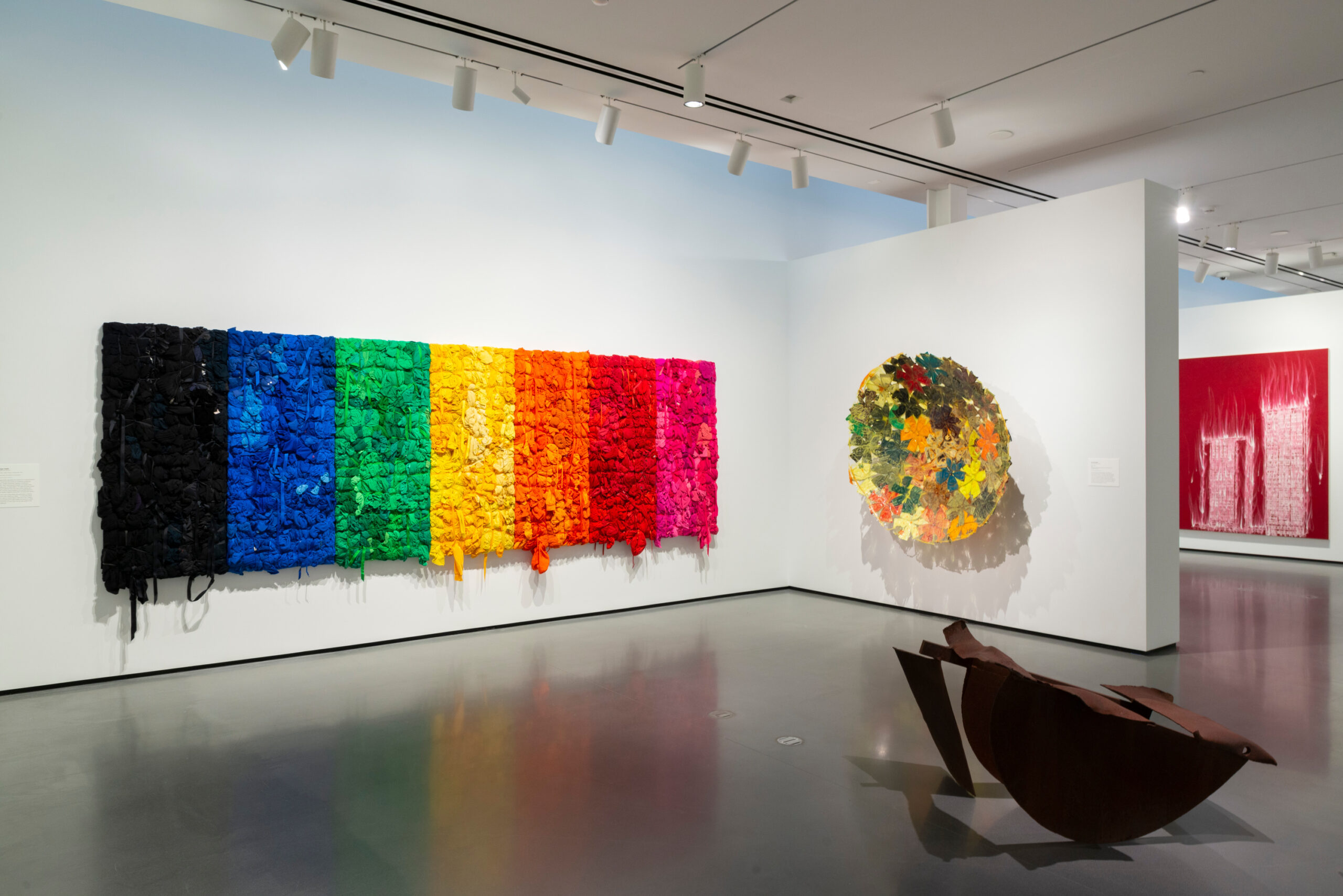 Installation view of Generations: A History of Black Abstract Art. Photo by Mitro Hood.