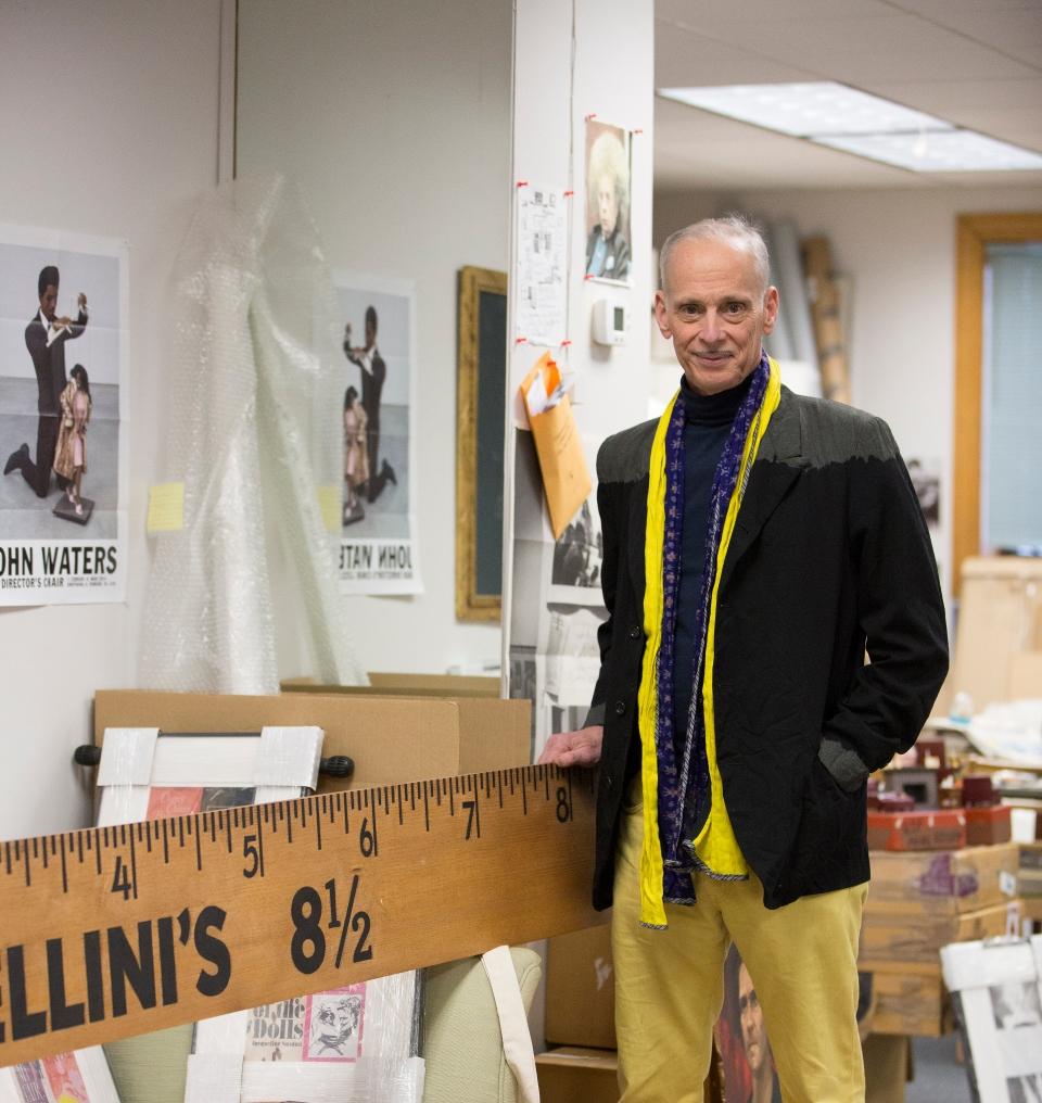 John Waters in his studio.