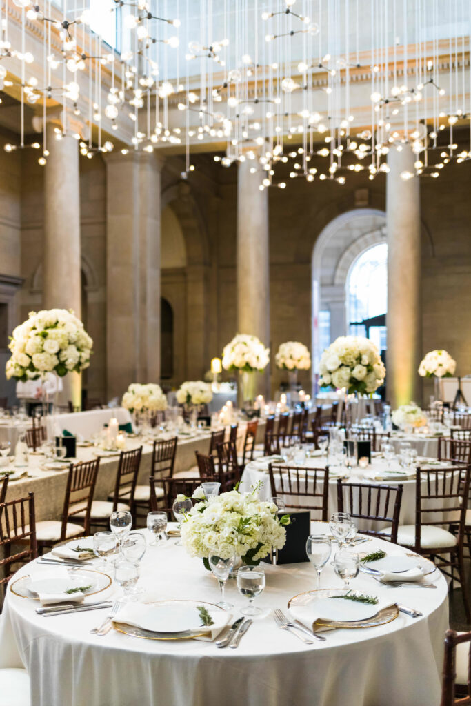 table settings for a wedding in Fox Court