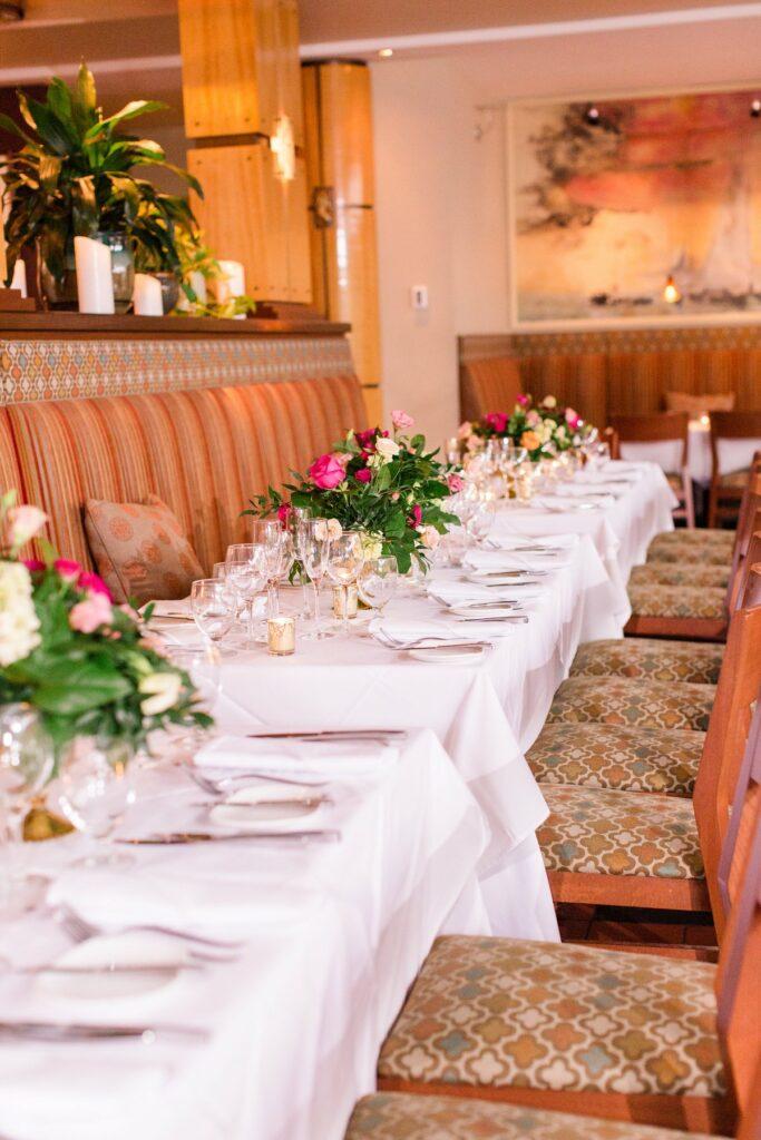 Gertrude's interior for wedding dinner