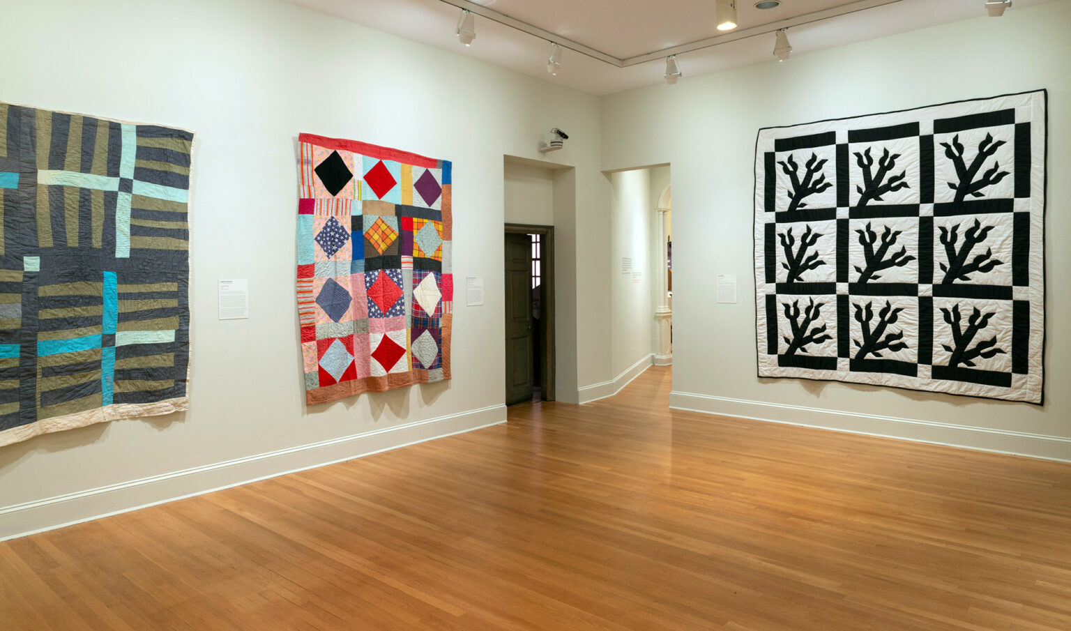 Installation view, She Knew Where She Was Going: Gee's Bend Quilts and Civil Rights. Photo by Mitro Hood.