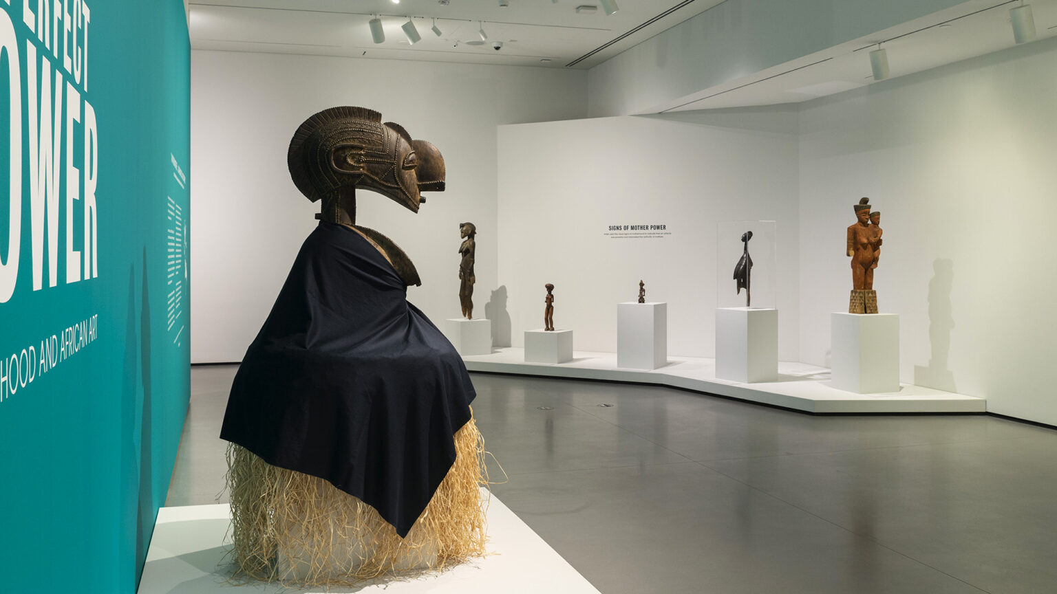 Image: Installation view, A Perfect Power: Motherhood and African Art. Photography by Mitro Hood