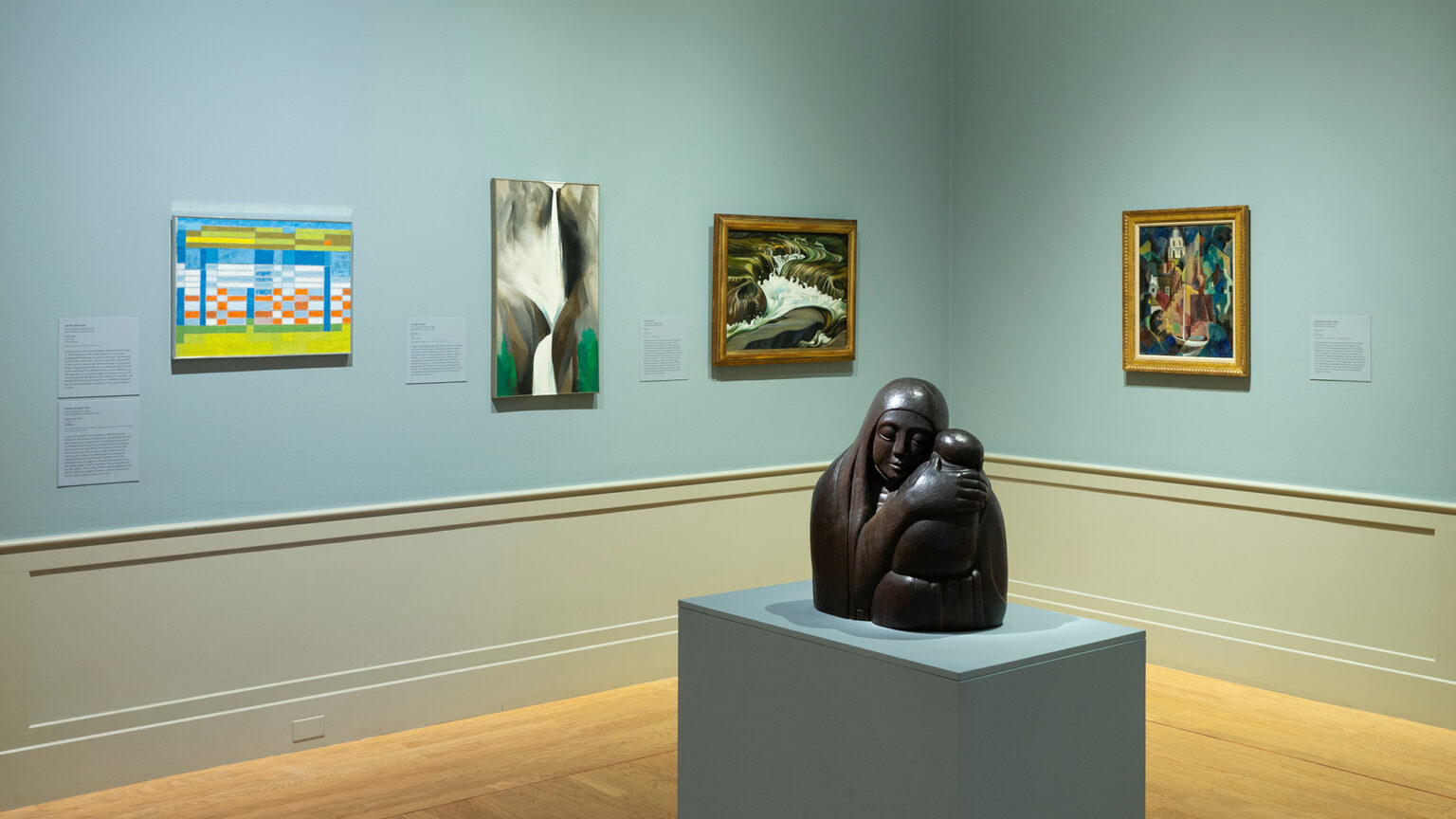 Image: Installation view, By Their Creative Force: American Women Modernists. Photo by Mitro Hood.