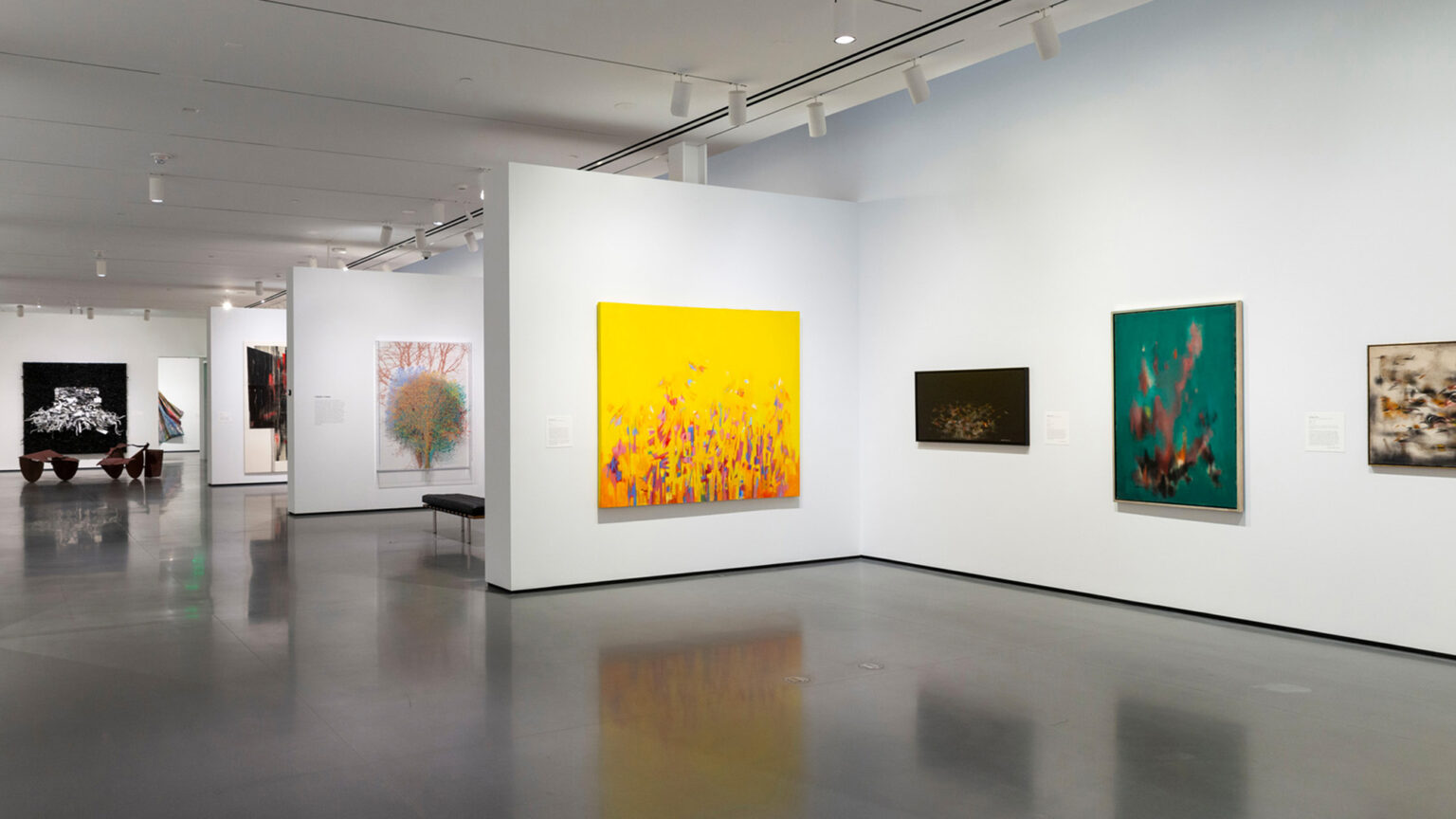 Installation view, Generations: A History of Black Abstract Art. Photo by Mitro Hood.