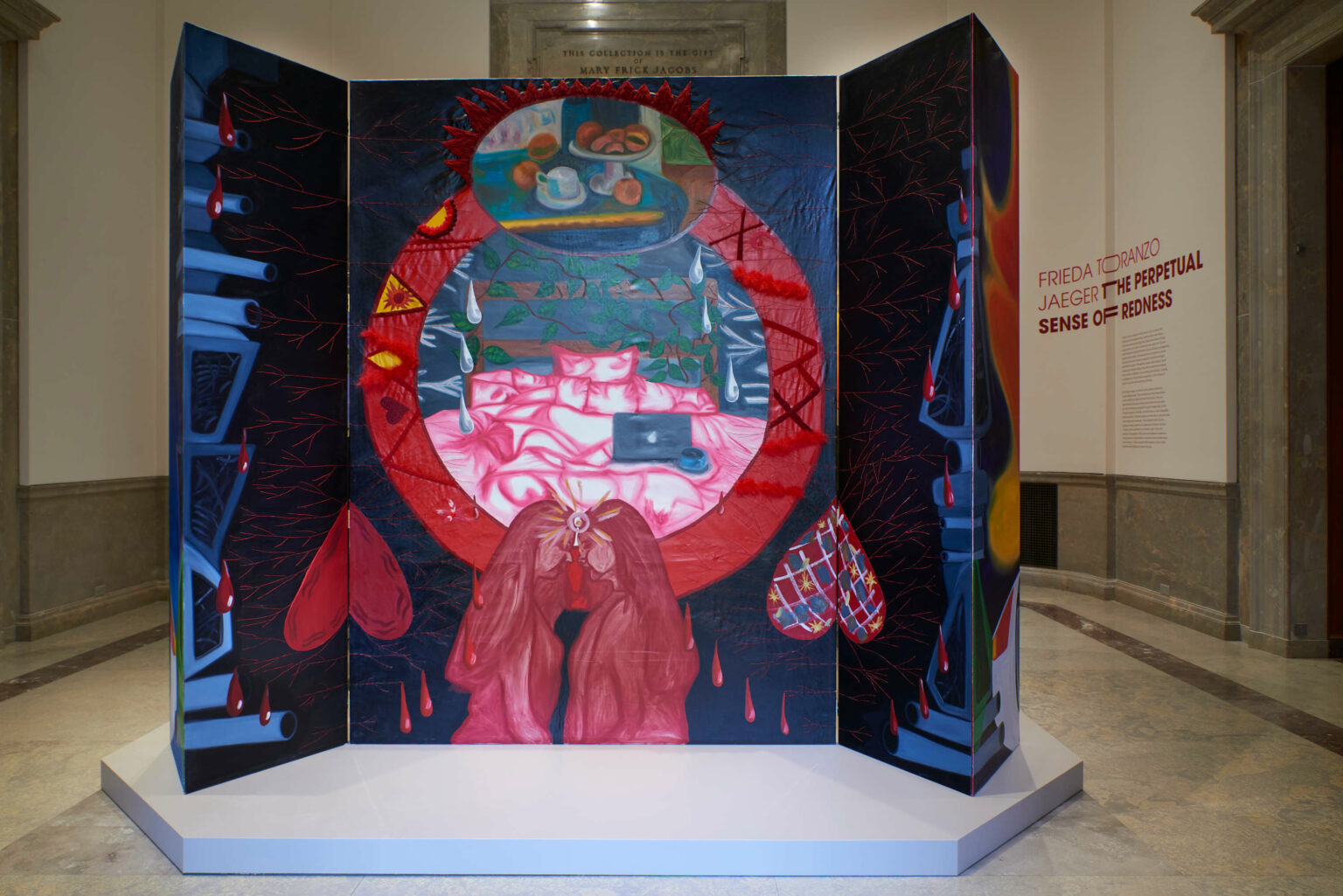 Installation view, Frieda Toranzo Jaeger: The Perpetual Sense of Redness