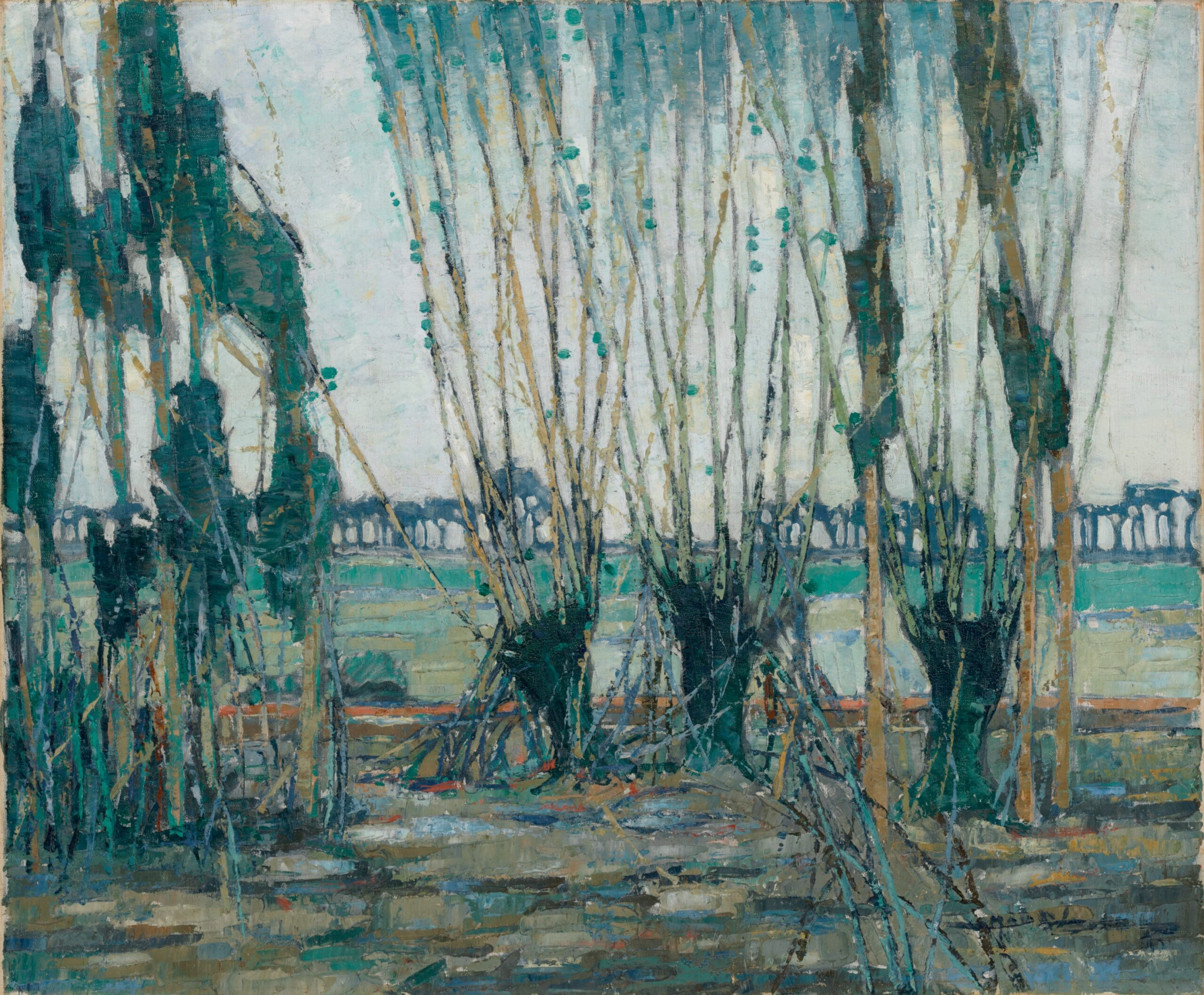 Hale Woodruff. Normandy Landscape. 1928. The Baltimore Museum of Art: Edward Joseph Gallagher III Memorial Fund, BMA 2002.279. Art © Estate of Hale Woodruff/Licensed by VAGA at Artists Rights Society (ARS), NY