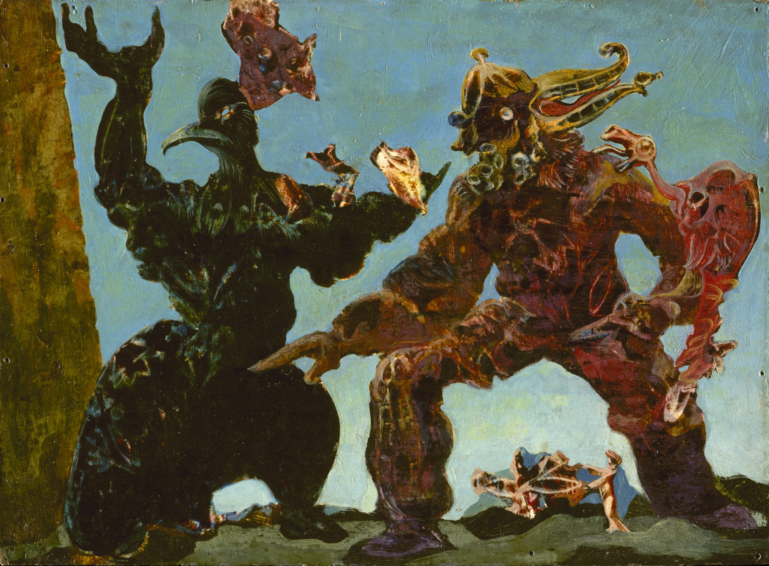 Max Ernst. The Barbarians. 1937. Lent by The Metropolitan Museum of Art, Jacques and Natasha Gelman Collection, 1998 (1999.363.21). © Artists Rights Society (ARS), New York / ADAGP, Paris