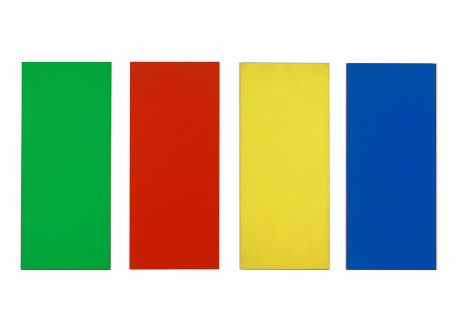 Ellsworth Kelly. Green Red Yellow Blue. 1966. The Baltimore Museum of Art: In Honor of Nathan L. and Suzanne F. Cohen, Baltimore, BMA 2019.84. © Ellsworth Kelly Foundation, Courtesy Matthew Marks Gallery